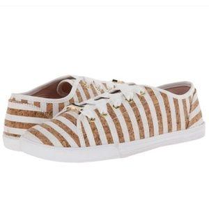 Kate Spade Lodero Cork Striped Sneakers 7.5M